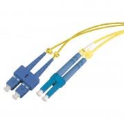 Jarretière optique monomode OS2 9/125 duplex Zipp jaune SC/LC 15.00m