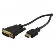 Cordon HDMI / DVI M/M connecteurs Or 3.00m blister