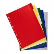 Intercalaires 6 touches couleurs en polypropylène 130 mic gris