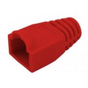 Manchon de protection souple pour connecteurs RJ45 rouge sachet de 10