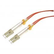 Jarretière optique multimode OM2 50/125 duplex Zipp orange LC/LC 15.00m