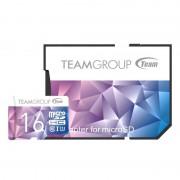 Carte mémoire microSDHC 16 Go UHS-I U3 class10 avec adaptateur Team Group