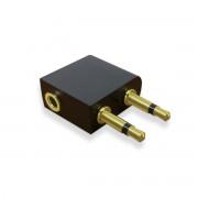 Adaptateur audio  Jack 3.5mm or  2 Jack mâles à 1 jack femelle monobloc