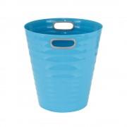 Poubelle, corbeille papier avec poignés 12,5 litres turquoise
