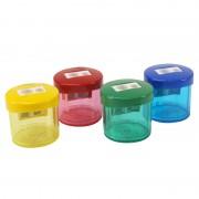 Taille crayon 2 trous couleurs mix stand de 24 pièces