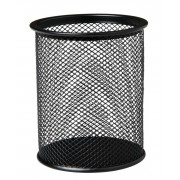 Pot à crayons mesh métal 98 x 80mm noir