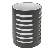 Pot à crayons avec séparateur 105x78mm Noir/blanc