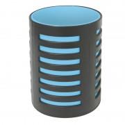 Pot à crayons avec séparateur 105x78mm Noir/bleu turquoize