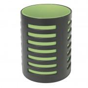 Pot à crayons avec séparateur 105x78mm Noir/vert