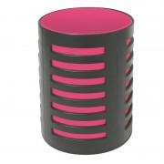 Pot à crayons avec séparateur 105x78mm Noir/rouge