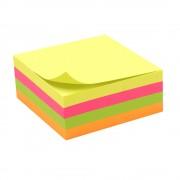 Bloc note repositionnable 4 couleurs néon 320 feuilles 75x75mm unité