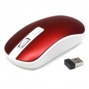 Souris optique sans fil mini dongle USB 1600 DPI max ROUGE ACIER - Waytex