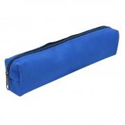 Trousse textile rectangulaire petit format 18 x 3.5 x 4.5 cm couleurs Bleu