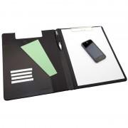 Organiseur conférencier avec porte bloc A4 à pince et compartiments