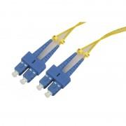 Jarretière optique monomode OS2 9/125 duplex Zipp jaune SC/SC 10.00m