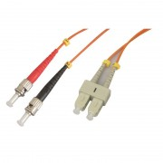 Jarretière optique multimode OM1 62.5/125 duplex Zipp orange ST/SC 10.00m