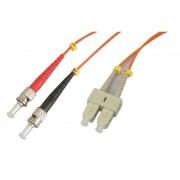 Jarretière optique multimode OM2 50/125 duplex Zipp orange ST/SC 1.00m