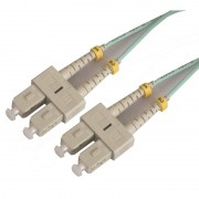 Jarretière optique multimode OM3 50/125 duplex Zipp aqua turquoise SC/SC 3.00m